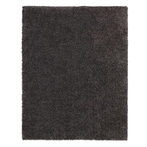 hanford shag rug home decorators collection hanford shag grey 3 ft 11 in x 6 ft area rug 70010301201838 the