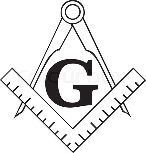 eps format bedeutung the masonic square and compass symbol freemason stock