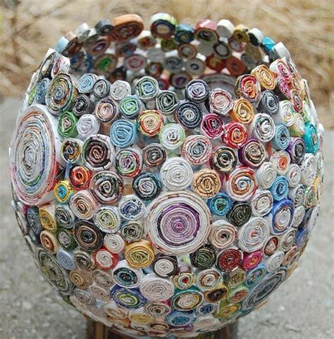 Rolled Paper Craft - rolled paper vase