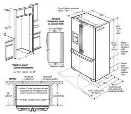 kitchen appliance dimensions cut out dimensions for 23 cu ft counter depth french door refrigerator common detail specs