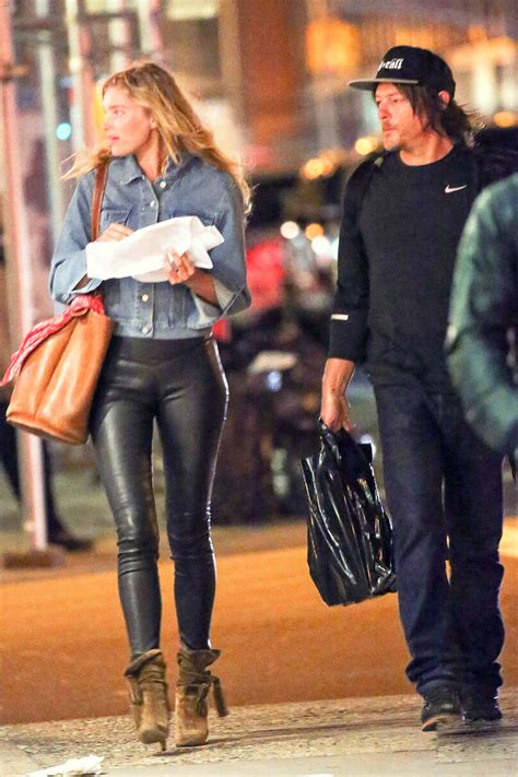 elsa hosk walking    york city leather