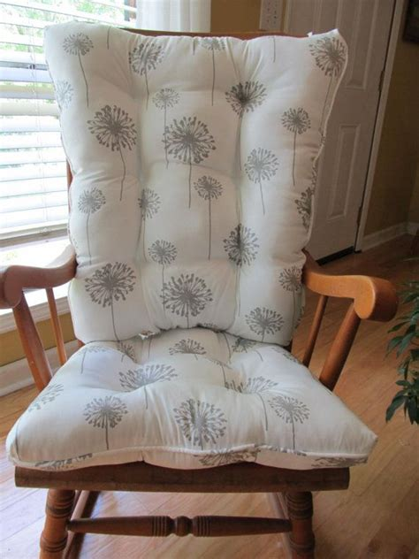 Gray Nursery Rocking Chair Tufted Rocking Chair Cushions Pads In Grey Dandelion Also In Yellow Turquoise And Black