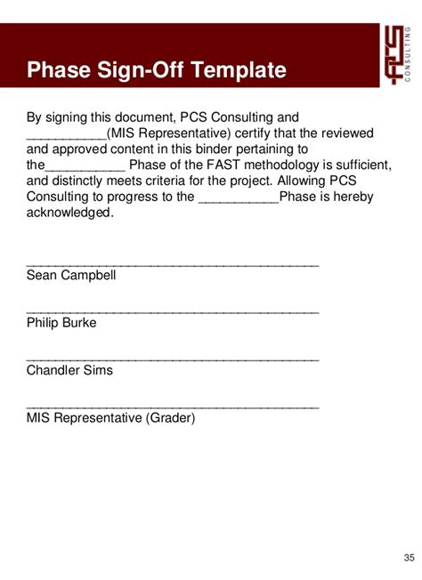 signed document template 295 project 3 pcs consulting