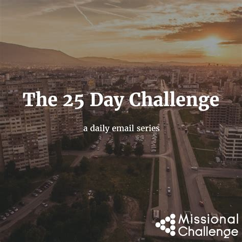 the 25 day challenge books 25 day challenge icon missional challenge