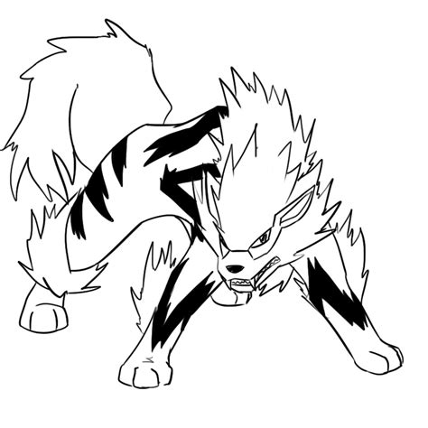 pokemon coloring pages arcanine pokemon arcanine coloring pages sketch coloring page