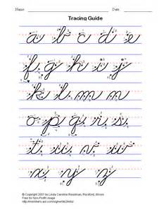 cursive handwriting letters writing