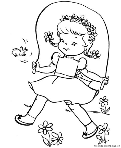 jump rope coloring pages az coloring pages