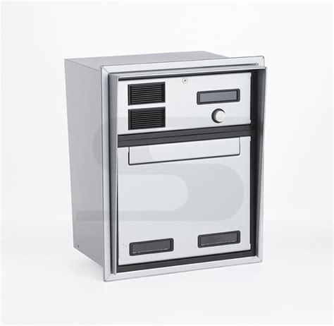 cassetta della posta da incasso cassetta postale con citofono da incasso silmec