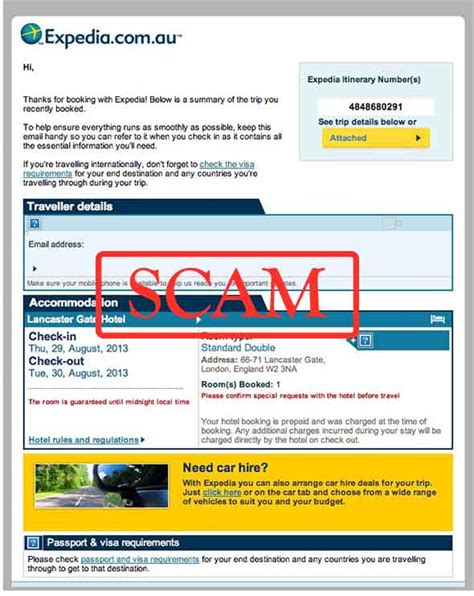 email expedia fake expedia email actually a phishing scheme photo