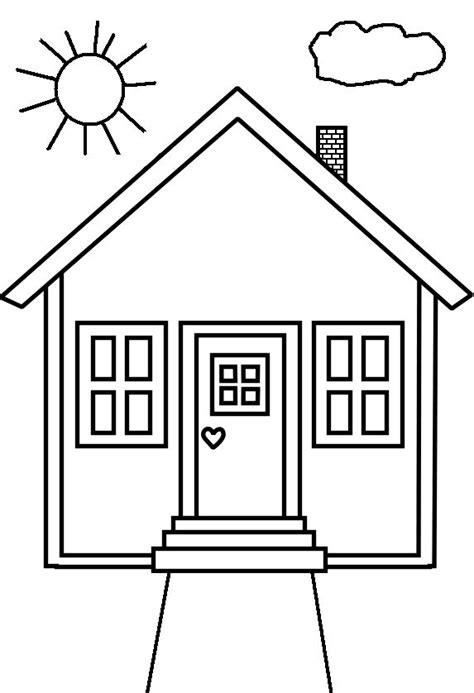 A House Coloring Page by House Coloring Pages Only Coloring Pages Nursery Room