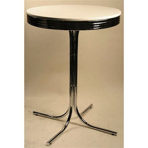 Retro Bar Table Alston Retro Bar Height Dining Table With White Pvc Top And Chrome Base Free Shipping