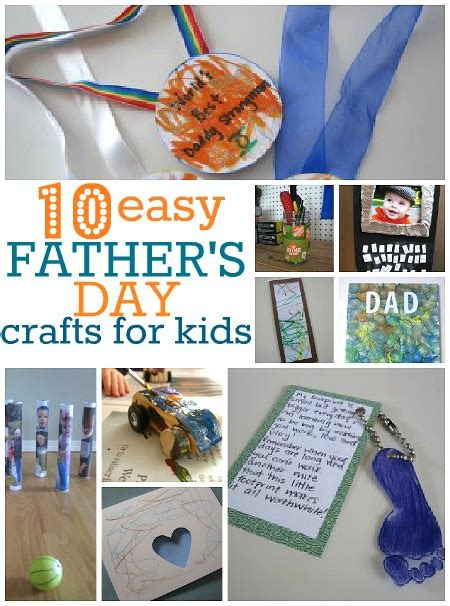 crafts for for fathers day 10 easy s day crafts no time for flash cards
