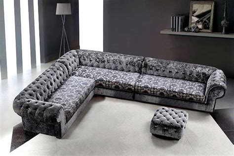 grey micro fiber sectional sofa ottoman fabric