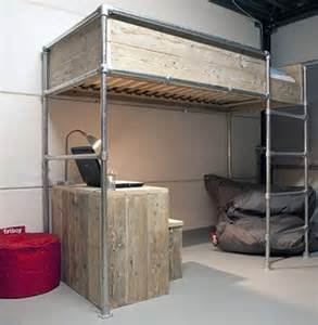 loft bed metal frame 15 beds made from pipe to give your apartment industrial