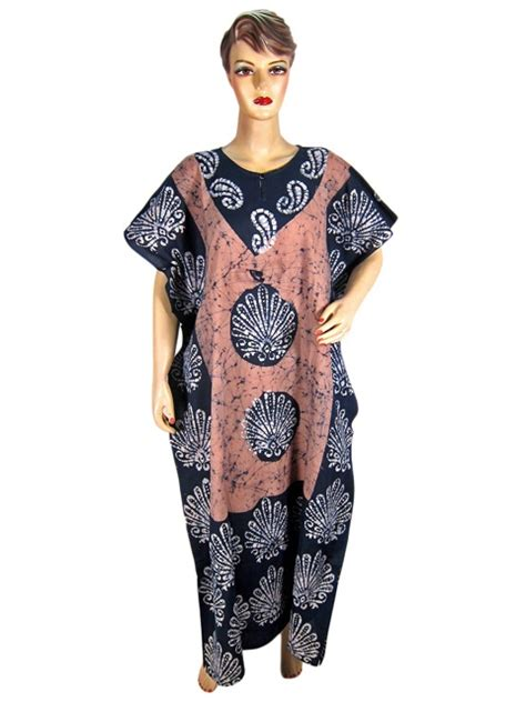 cotton caftan batik paisley print resort wear kaftan