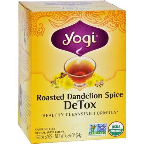 Yogi Dandelion Spice Detox Tea by Yogi Tea Organic Roasted Dandelion Spice Detox 16