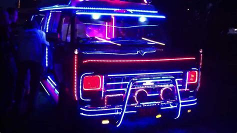 chevy van with 1 million lights youtube