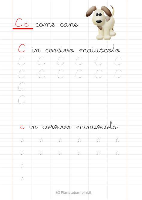 lettere in corsivo per schede di pregrafismo delle lettere dell alfabeto da