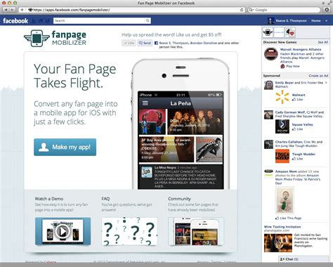 facebook fan page gigaom turn your facebook fan page into a mobile web app