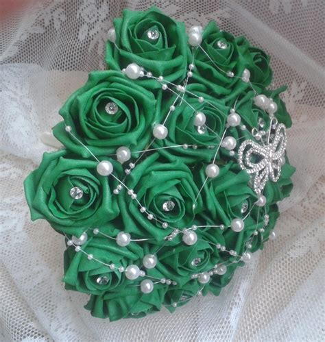 Artificial Silk Emerald Green emerald green wedding flowers unique wedding ideas