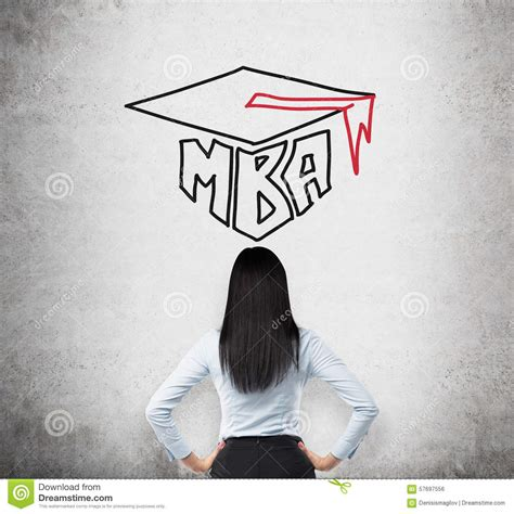 Upon Graduation From The Mba Program by Rear View Of The Who Is Thinking About