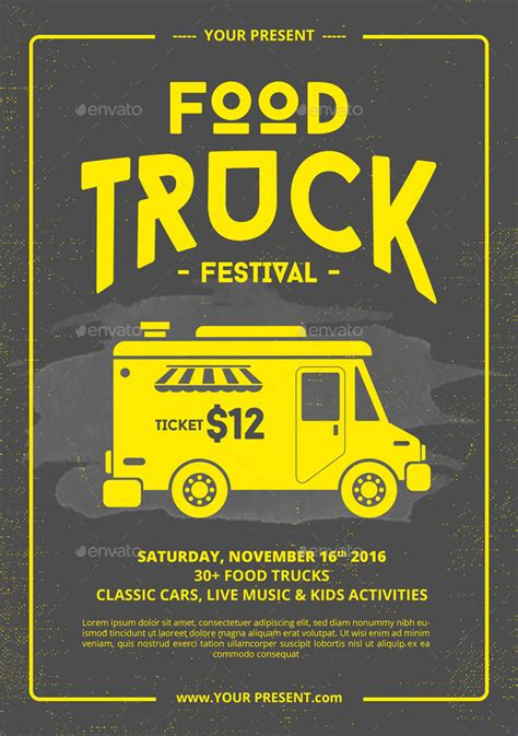 Food Truck Flyer Poster By Monogrph Graphicriver Food Truck Flyer Template