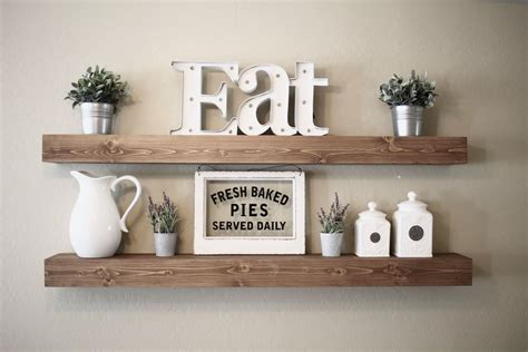 floating farmhouse floating shelf rustic floating shelf ledge shelf