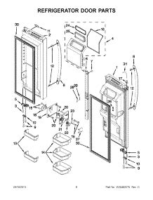 whirlpool gold refrigerator parts diagram parts for whirlpool wrf990slam00 refrigerator