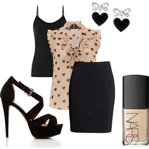 16 polyvore combinations with pencil skirts