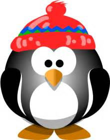 Cute penguin with hat clip art at clker com vector clip art online