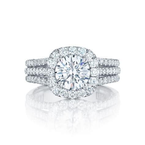 tacori engagement rings crescent halo