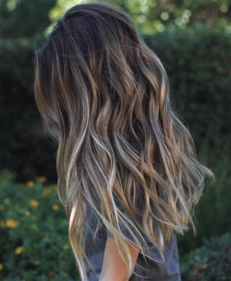 streaking grey hair with brown 40 ideas of gray and silver highlights on brown hair