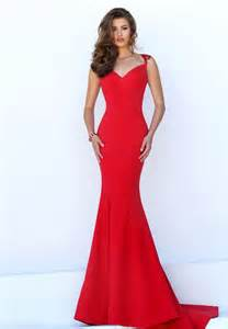 sheer lace back red satin cap sleeve mermaid long prom