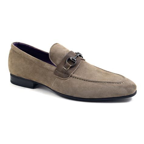 mens loafers with buckle buy taupe suede buckle loafers for at gucinari
