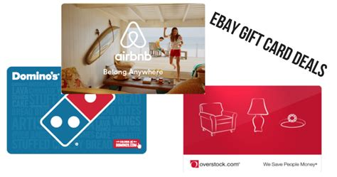 Where Can You Get Ebay Gift Cards - ebay gift card deals airbnb dominos overstock more southern savers