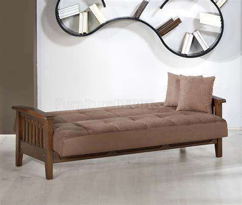 wooden sleeper couch truffle microfiber living room w wooden frame sleeper sofa