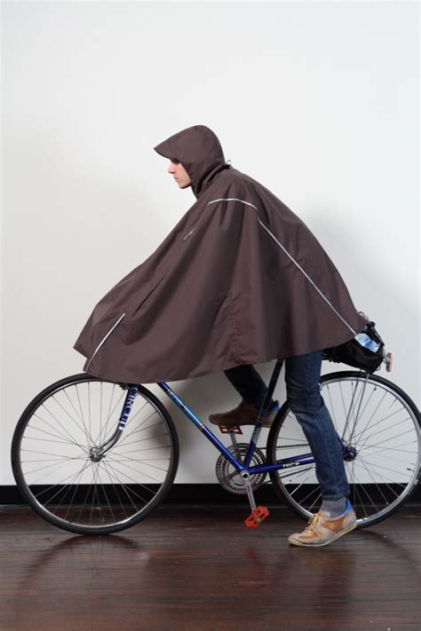 bicycle raincoat cleverhood 240 it s a technical poncho meets cape 3m