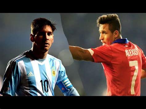 alexis sanchez and messi lionel messi vs alexis sanchez copa america chile 2015