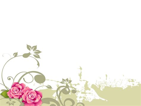 flower ppt template 6 best images of floral powerpoint backgrounds simple