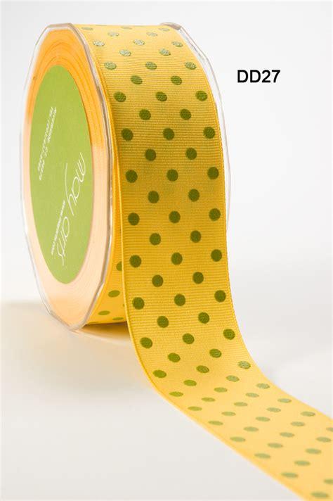 Pita Grosgrain 14 Single Dot 1 5 inch yellow grosgrain dots ribbon buy ribbons