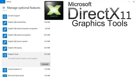 windows 10 directx tutorial how to install directx graphics tools in windows 10