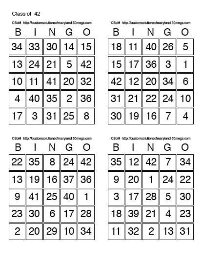 Bingo Card Template With Numbers by Best Photos Of Printable Bingo Cards With Numbers Free