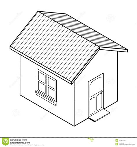 drawing with 3d house stock illustration image of vector 3d house icon vector stock vector illustration