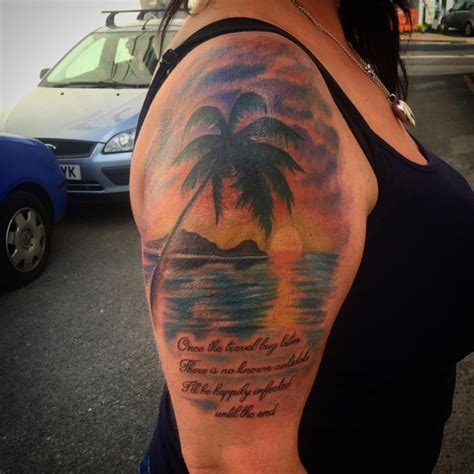 beach sleeve tattoo 21 designs ideas design trends premium