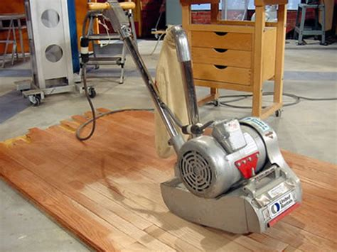 drill brushes and floor sander how to refinish a hardwood