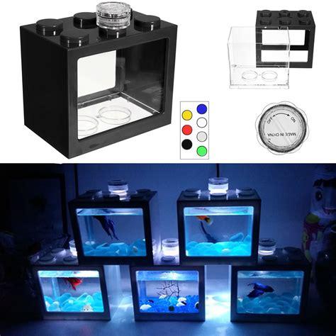 small led aquarium light 7 colors clear small fish tank aquarium led light office