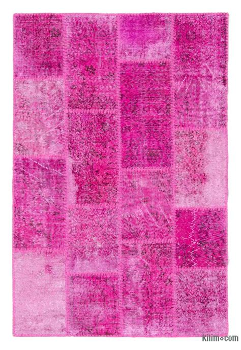 k0020734 pink dyed turkish patchwork rug