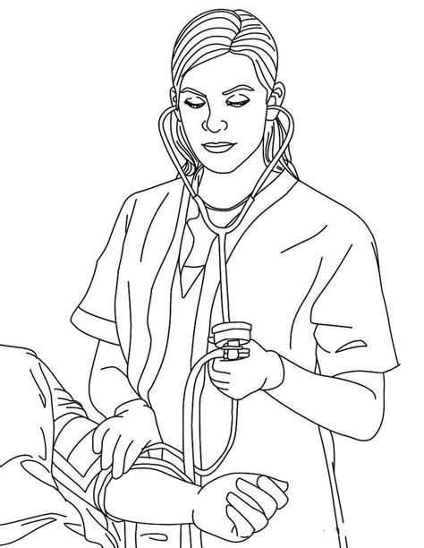coloring page of nurse editorial caretakers taking care of each other the
