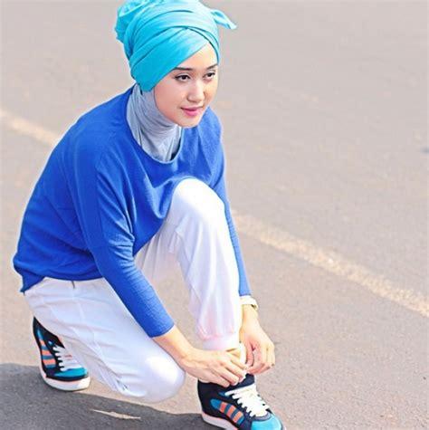 tutorial turban baling baling bambu dian pelangi tren anyar hijab turban baling baling bambu foto 4