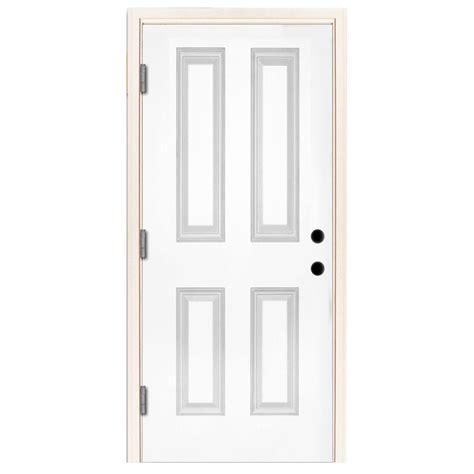 28x80 Exterior Door Steves Sons 32 In X 80 In Premium 4 Panel Primed White Steel Prehung Front Door St40 Pr 28